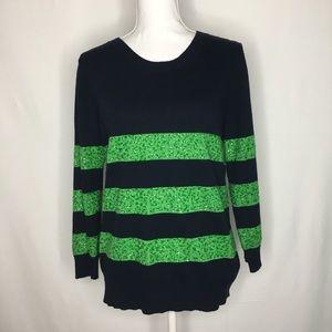 J. Crew Factory sequin stripe sweater wool blend